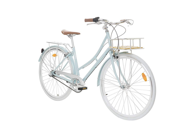 57ab811cc9e Bicicleta de paseo estilosa con cuadro de acero y diseño cómodo. Muy  práctica para moverse por la ciudad con una postura confortable y elegante,  ...
