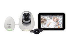 """Vigilabebés SEW-3057WP/EX de Samsung con pantalla LCD 5"""", en blanco"""