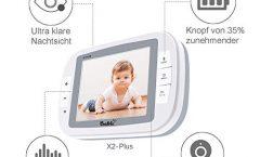 """Vigilabebés Bable X2-Plus con pantalla LCD TFT 3,5"""" a color y cámara de visión nocturna"""