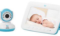 """Vigilabebés Innovaciones MS 2010 con pantalla de 7"""" y cámara de visión nocturna, en blanco y azul"""