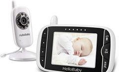 """Vigilabebés HelloBaby HB32&HB24 con pantalla LCD 3,2"""" a color y cámara de visión nocturna"""