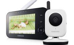 """Vigilabebés Samsung SEW-3040W/UK con pantalla de 4,3"""" y cámara de visión nocturna, en negro"""