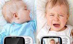 """Vigilabebés con pantalla LCD TFT 3,2"""" y cámara de visión nocturna, en blanco"""