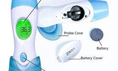 Termómetro digital para bebé Baby Digital BU164114Z0FYY522 con pantalla LCD, seguro