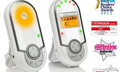 """Vigilabebés Motorola MBP16 con pantalla LCD 1,5"""" y cámara de visión nocturna, en blanco"""