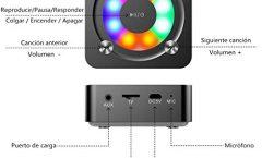 Altavoz Bluetooth Portátil Kainuoa A9 100 W y con una autonomía de 4 horas, en negro