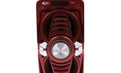 Altavoz Bluetooth Portátil 735 de I.T.K. impermeable y karaoke con 10 W y con una autonomía de 8 horas, en rojo