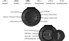 Altavoz Bluetooth Portátil Vieta VM-BS49BK 20 W, en negro