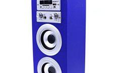 Altavoz Bluetooth Portátil 25 de DYNASONIC karaoke 10 W y con una autonomía de 8 horas, en azul