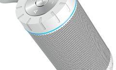 Altavoz Bluetooth Portátil COMISOX26 de COMISO impermeable y con una autonomía de 6 horas, en blanco