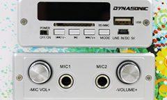 Altavoz Bluetooth Portátil DYNASONIC 25 impermeable y karaoke con 10 W y con una autonomía de 8 horas, en multicolor