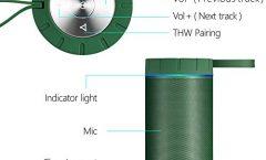 Altavoz Bluetooth Portátil COMISO COMISOX26 impermeable y con una autonomía de 6 horas, en verde