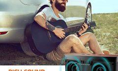 Altavoz Bluetooth Portátil COMISOM20 de COMISO karaoke 10 W y con una autonomía de 20 horas, en negro