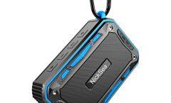 Altavoz Bluetooth Portátil S618lan-ES de NickSea impermeable y con una autonomía de 8 horas, en azul