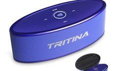 Altavoz Bluetooth Portátil TRITINA TR-WSP01-BL karaoke con micrófono, en blue