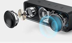 Altavoz Bluetooth Portátil Anker SoundCore impermeable y con una autonomía de 24 horas, en negro