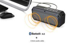 Altavoz Bluetooth Portátil AUKEY SK-M8 impermeable y con una autonomía de 6 horas, en gris