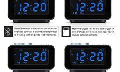 Altavoz Bluetooth Portátil K6 de Wonyered 10 W y con una autonomía de 10 horas, en negro