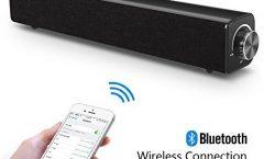 Altavoz Bluetooth Portátil COOLtry001 de COOLtry impermeable, en negro