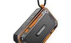 Altavoz Bluetooth Portátil NickSea S618cheng-ES impermeable y con una autonomía de 5 horas, en naranja
