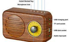 Altavoz Bluetooth Portátil LB-YX10-UK de Libershine 5 W y con una autonomía de 5 horas, en madera