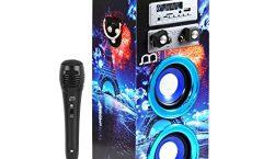 Altavoz Bluetooth Portátil 104110449-5-AM1 de Music Life karaoke con micrófono