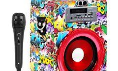 Altavoz Bluetooth Portátil 104110494-3-AM2 de Music Life karaoke con micrófono