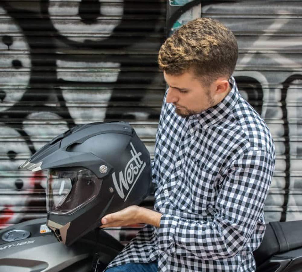 Westt/® Jet /· Casco Moto Jet Abierto para Motocicleta Ciclomotor y Scooter /· Cascos de Moto Mujer y Hombre en Negro Mate /· ECE Homologado