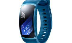 """Reloj inteligente Samsung Gear Fit 2 con pulsera de actividad inteligente para deporte y 1.5"""", azul"""