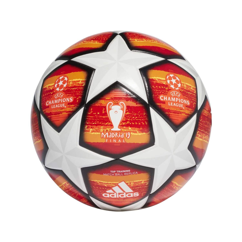 ad1b2dc6815 Este balón de fútbol reglamentario de Adidas es una réplica del  correspondiente a la final de la UEFA Champions League 2018-2019.