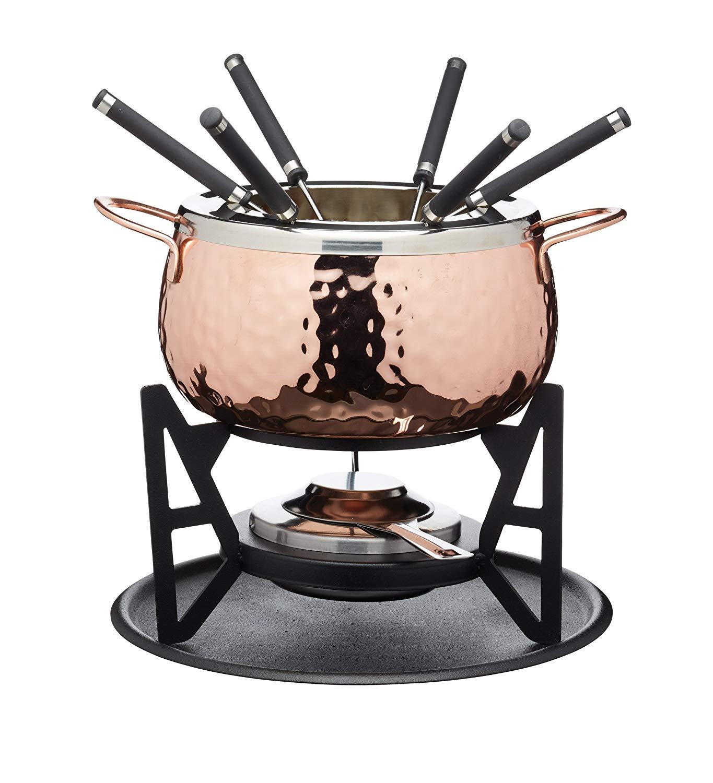 Set electr/ónico Acero Inoxidable Fondue Fondue para 8/personas 1400/W Fondue de queso, chocolate Fondue Fondue, 1,2/litros, 8/tenedores de fondue