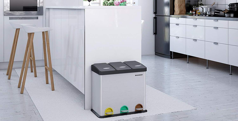 Color : Black Botes de Basura//Basurero Cubo de Cocina Cubo de basura europeo de sobremesa Cubo de almacenamiento multifuncional de sala de ba/ño grande para el hogar Botes de Basura para la Cocina